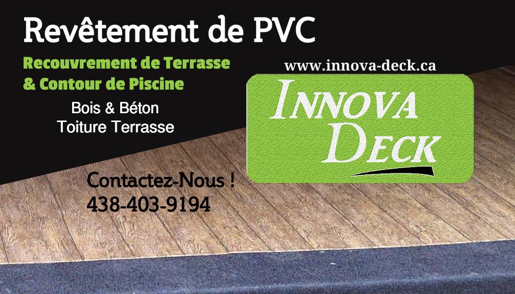 Installation de membrane PVC Revêtement Patio Bois & Béton.     Territoires: St-Jean-sur-Richelieu, Brossard, Montréal, Laval, Longueuil et environs.