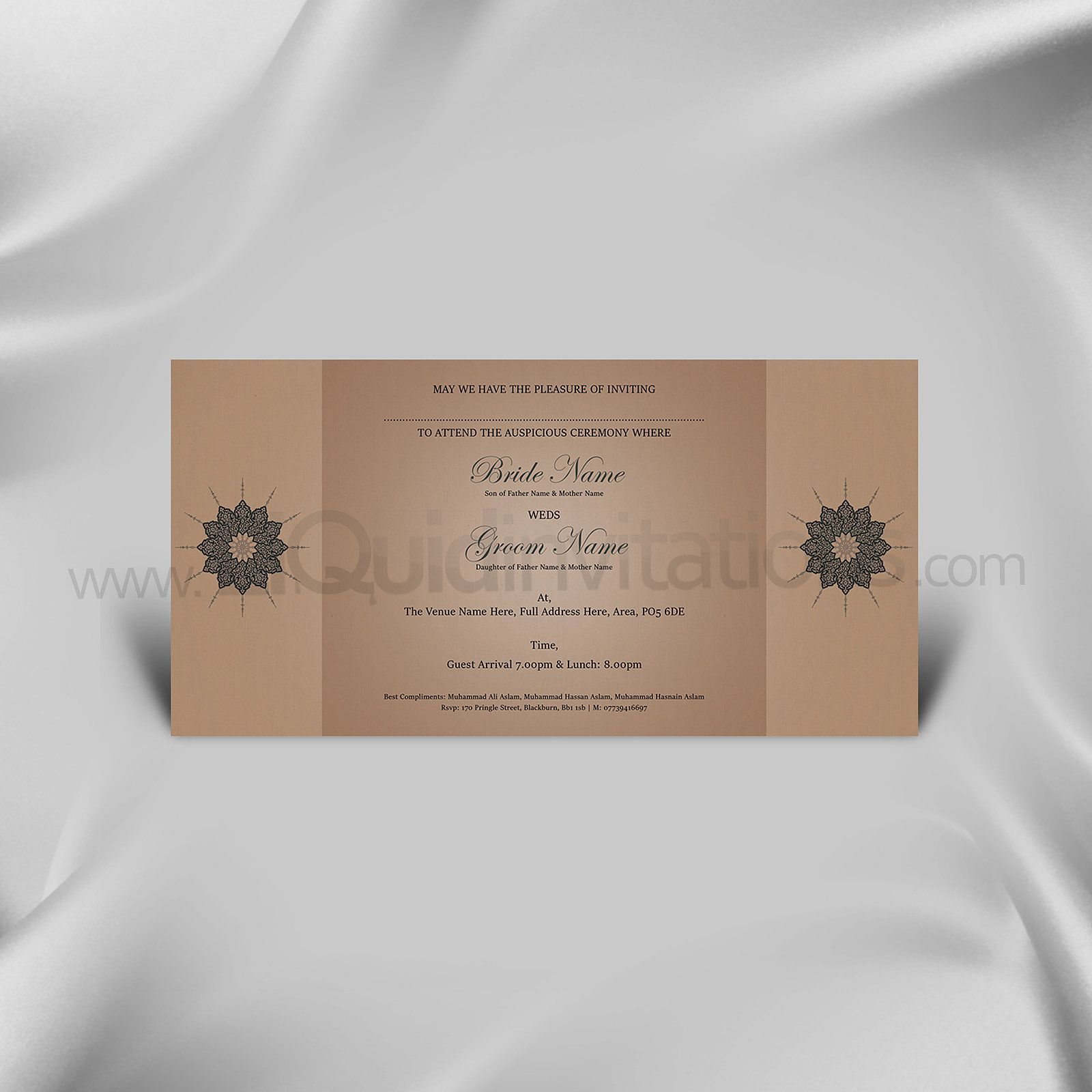 Shaadi Card Brown Green Invitation Wedding And Weddings