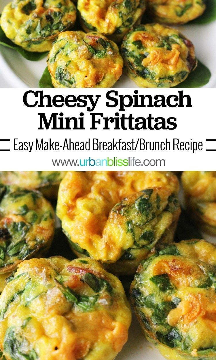 Photo of Cheesy Spinach Mini Frittatas Breakfast Brunch Recipe
