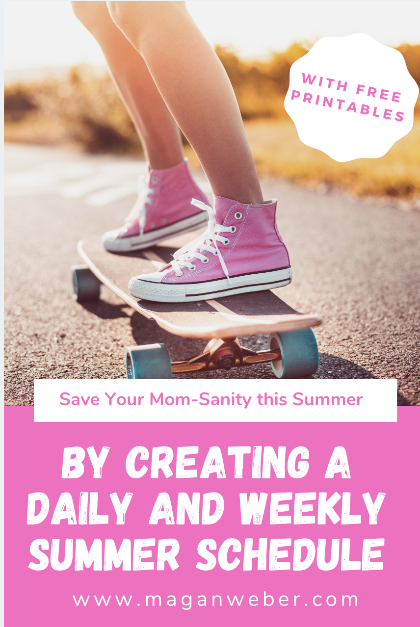 How to Create a Daily and Weekly Schedule for Fun Summer Activities with Your Kids - Free Printable #summerschedule