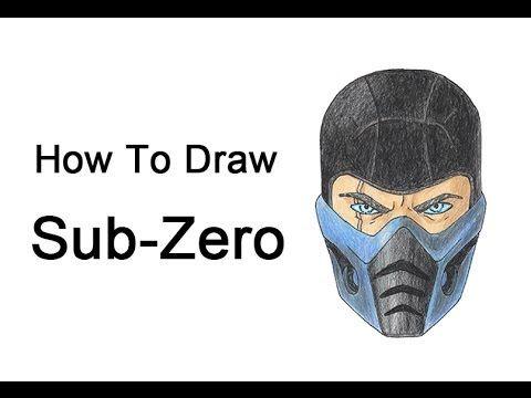 How to Draw Sub-Zero from Mortal Kombat   Madison   Pinterest