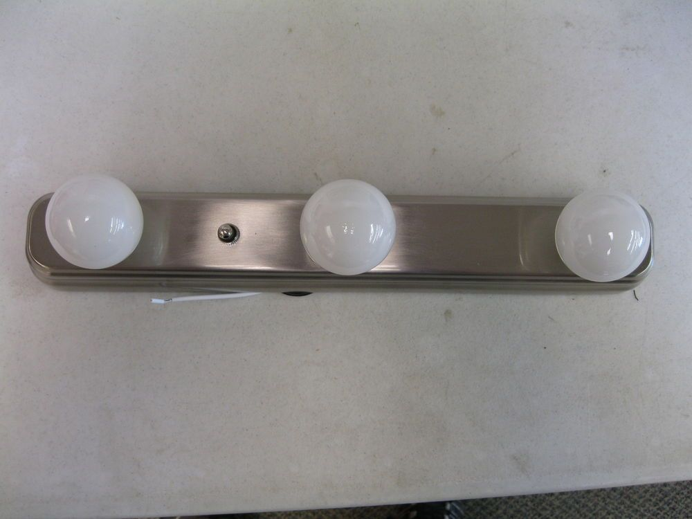 Brushed Nickel 12 Volt Rv Boat Vanity Strip Light Includes Lights 12 Volt Light Fixtures Strip Lighting Light Fixtures