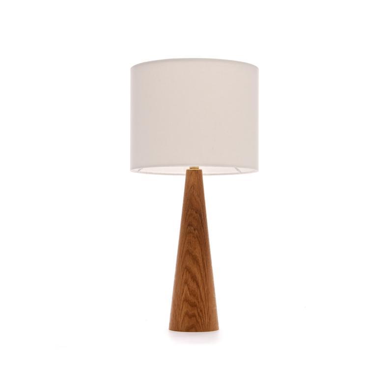 Oak Bedside Table Lamp Cone Shape Etsy Bedside Table Lamps Table Lamp Table Lamp Wood