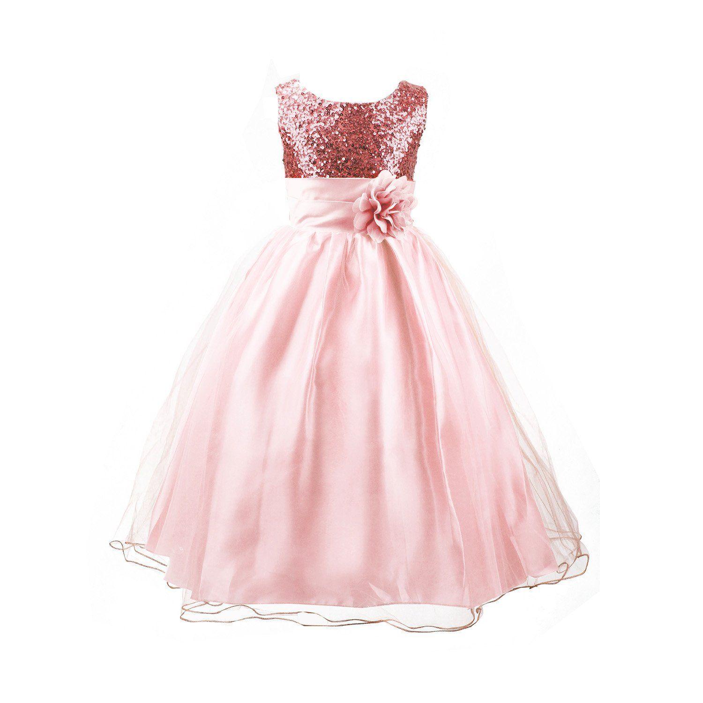 Amazon.com: Acediscoball Big Girls\'Flower Party Wedding Gown ...