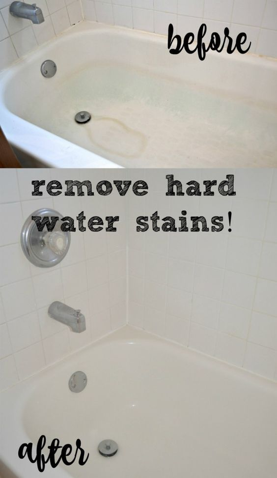 The Crazy Easy Way to Remove Hard Water Stains | Organization ...