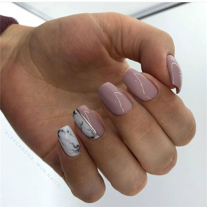 100 Pretty Winter Nail Design Ideas 2019 With Images Winter Nail Designs Nail Colors Christmas Nails