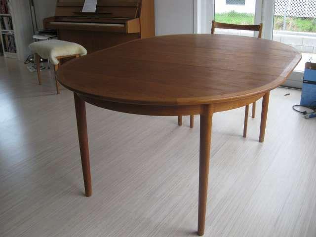 teak spisebord Teak spisebord, Torbjørn Afdal, Bruksbo, Norge | Ting/Møbler  teak spisebord