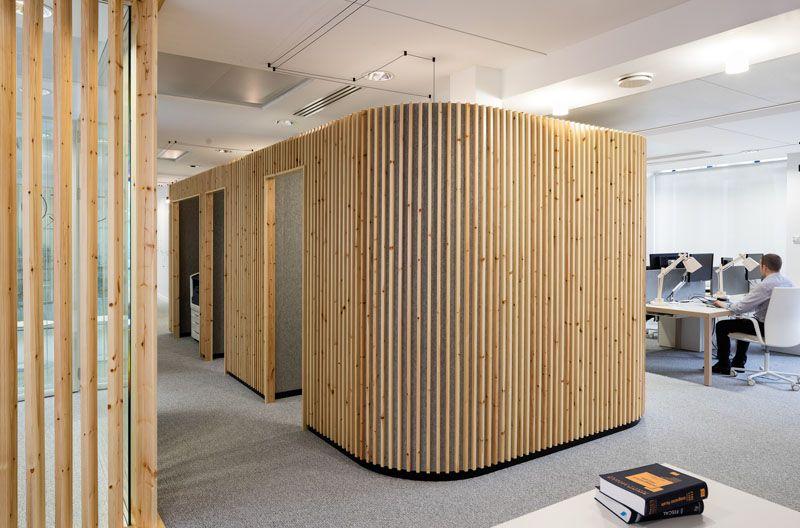 Bureau Open Space Bois : Comment décorer un intérieur avec des lames de bois interior