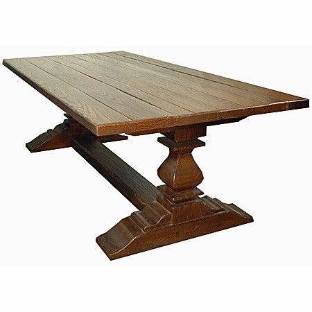 Double Pedestal Dining Table Distressed Solid Oak X - Solid oak double pedestal dining table