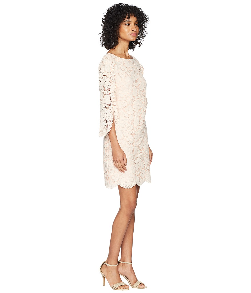 Vince Camuto Lace Shift Dress With Overlap Sleeves Womens