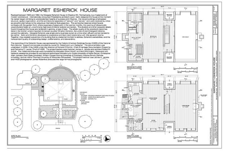 Happy Birthday Louis Kahn Claass Haus Esherick House Floor Plans House Floor Plans