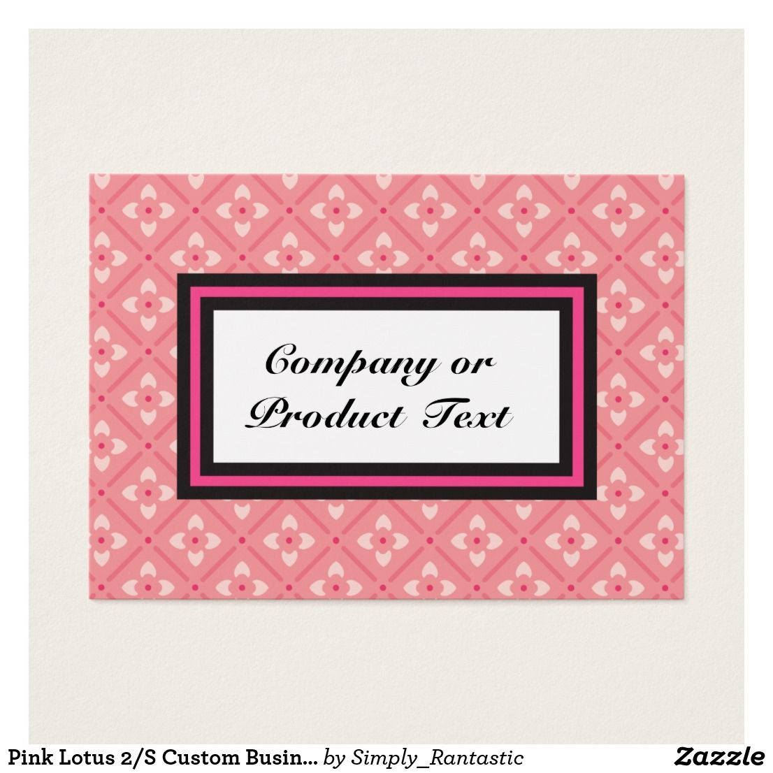 Pink Lotus 2/S Custom Business/product card