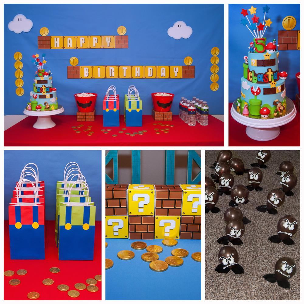 Super mario birthday party ideas super mario bros mario for Mario decorations