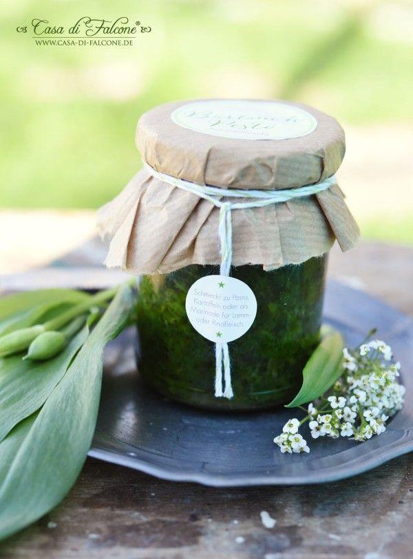 b rlauchpesto rezept pesto dips and wild garlic. Black Bedroom Furniture Sets. Home Design Ideas