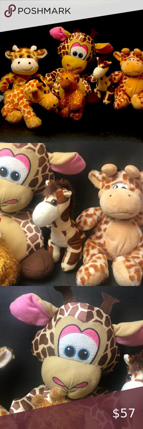 Big Giraffe Zoo Animals Plush Toy Lot Animal Plush Toys Plush Toy Zoo Animals [ 1740 x 580 Pixel ]