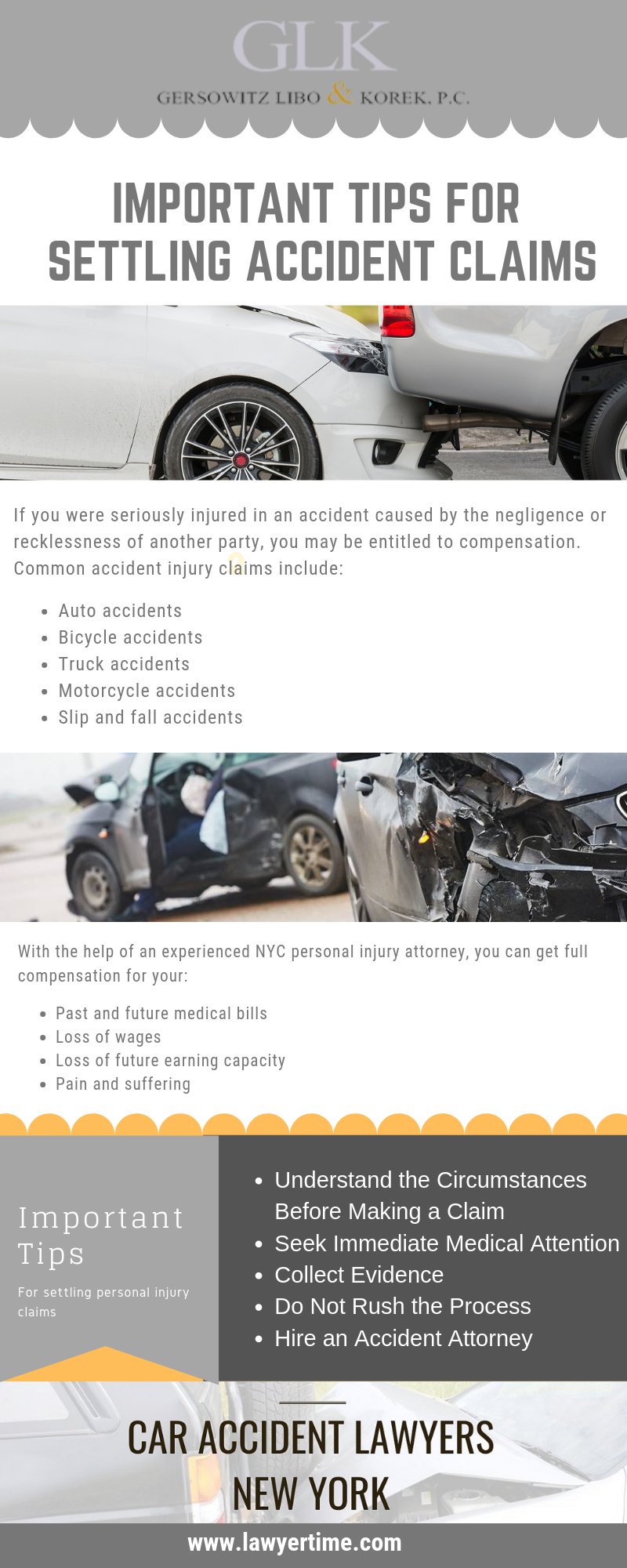 The Important Tips For Settling Accident Claim Glk Law Accident Bicycle Accident Accident Injury
