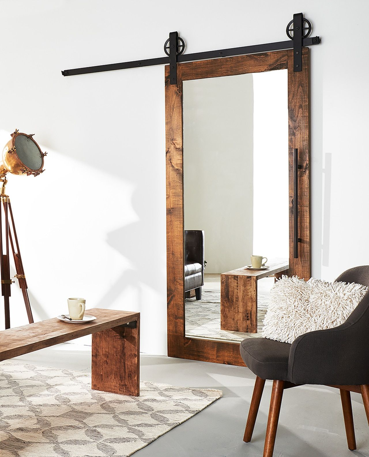 Photo of Mirror Sliding Barn Door