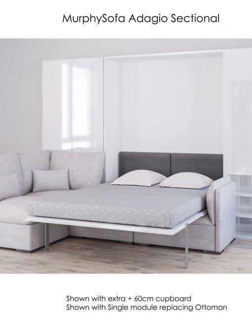 Best Murphysofa Adagio – Queen Luxury Sectional Sofa Wall Bed 400 x 300