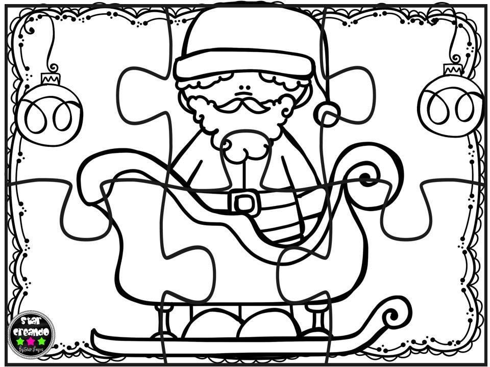 Puzzles-navidad-para-colorear-31jpg (960×720) Natal - Fichas - navidad para colorear