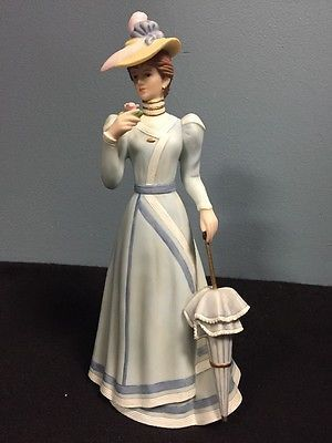 HOME INTERIORS MASTERPIECE PORCELAIN LADY COVINGTON FIGURINE #14044 03  EUC