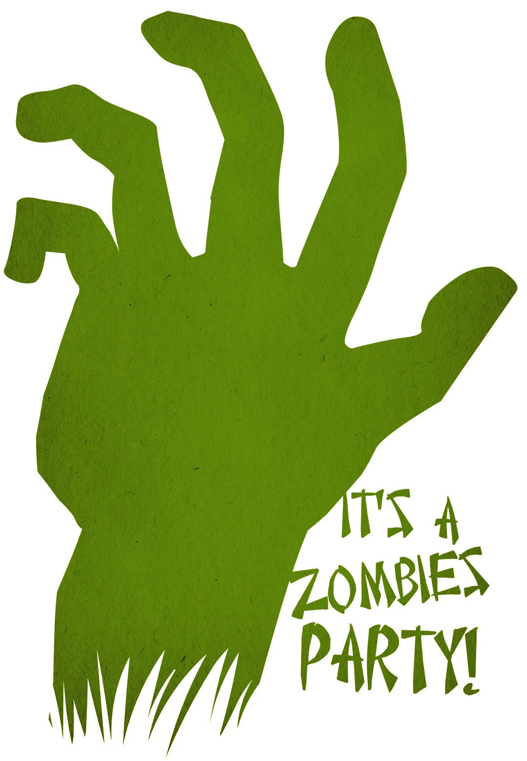 free printable zombies party