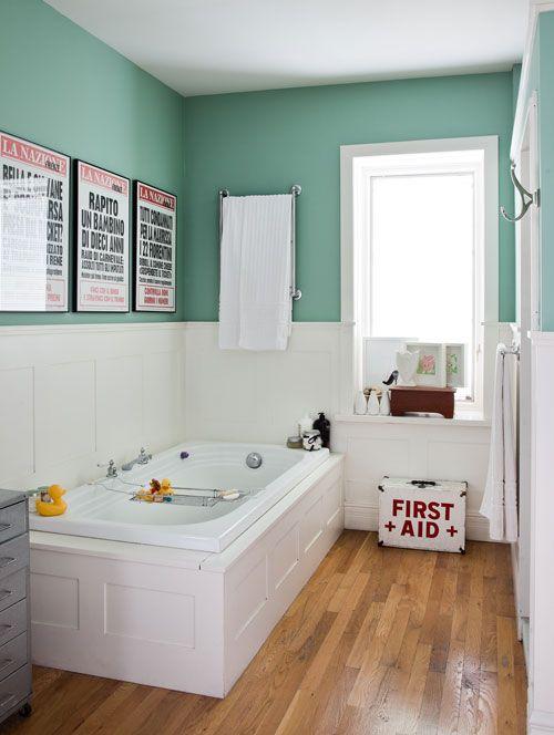 sdb - color wall HOME Deco Pinterest Sdb, Salle de bains et