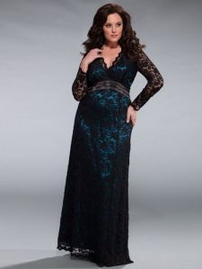 Plus size formal dresses with sleeves - http://www.cstylejeans.com ...