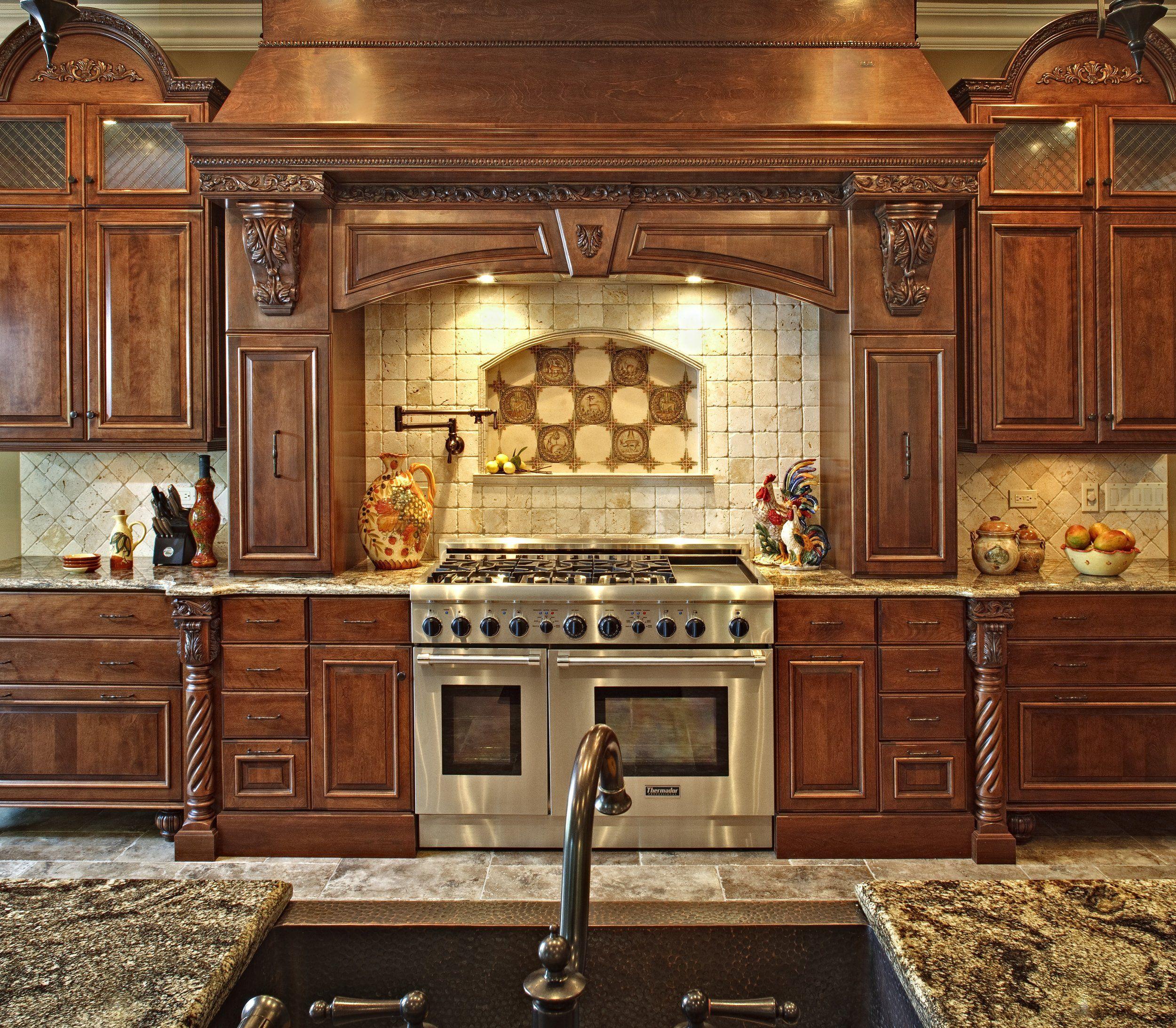 Custom Hand Carved Kitchen Hoodhand Carved Kitchen Hood Affordable Kitchen Remodeling Tuscan Kitchen Luxury Kitchen Design