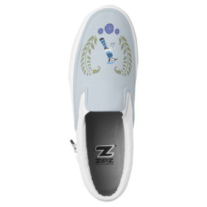 Slip On Shoes - Blue Jay - light gifts template style unique special