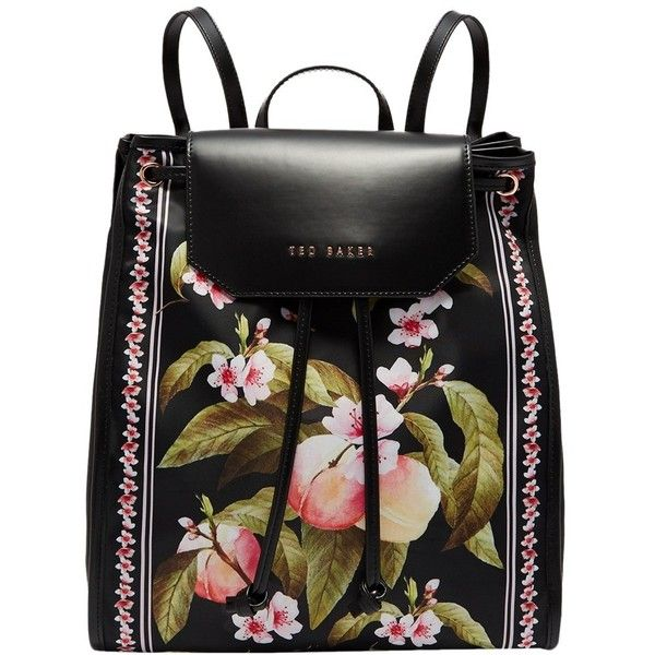f469c65c2f6 Ted Baker Ruby Peach Blossom Backpack ($99) ❤ liked on Polyvore featuring  bags, backpacks, ted baker, drawstring backpack, flower backpack, draw  string ...