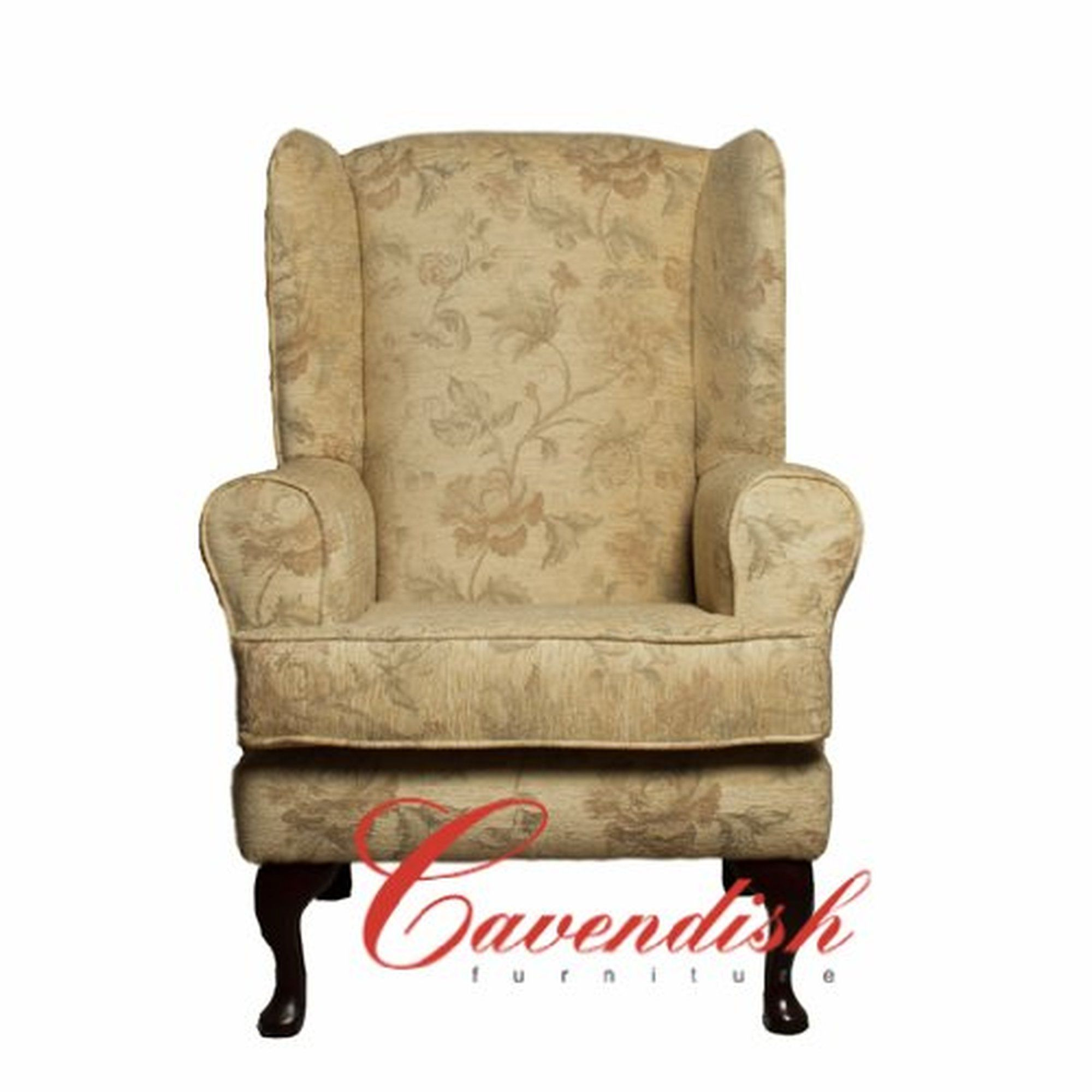Luxury cream floral fabric orthopedic chair | Yellow ...