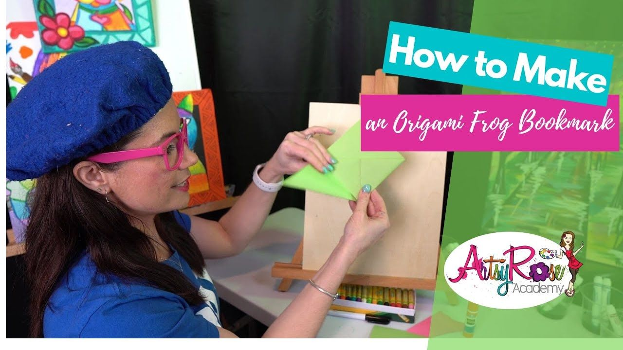 Photo of How to Make an Origami FROG Book Page Marker with Artsy Rose