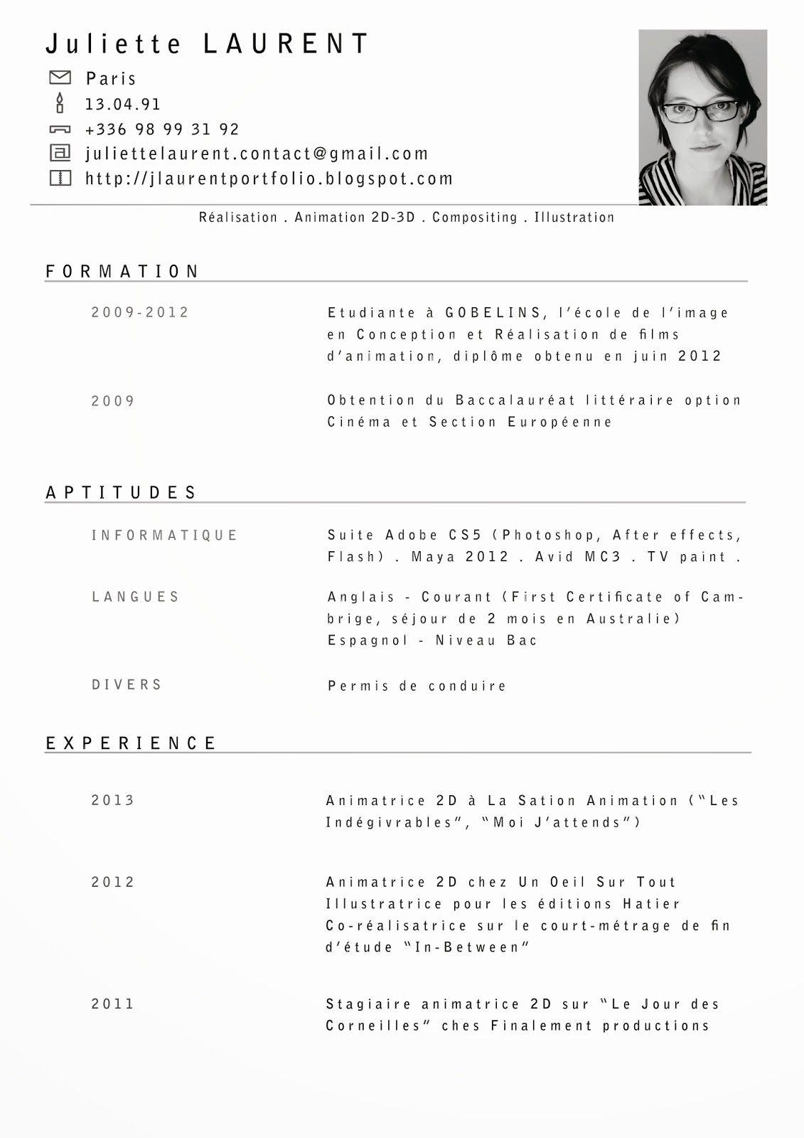 Cv En Ligne English Cv Anonyme Curriculum Vitae Cv Etudiant Cv Francais