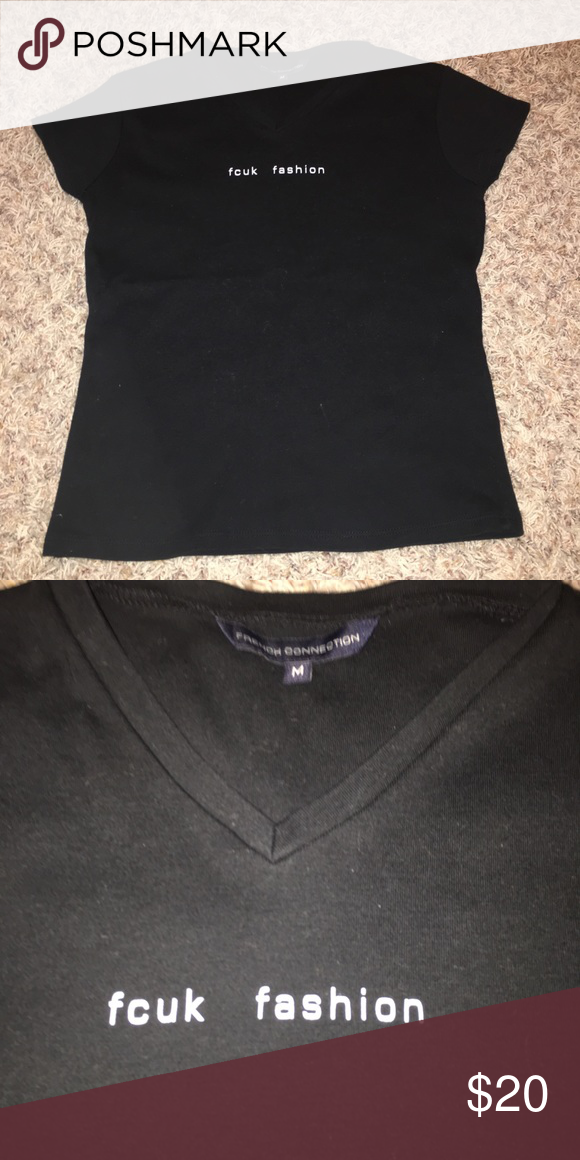 """dad91533f0a French connection Shirt French Connection Shirt """"fcuk"""" fashion Size: medium  (can fit a small) French Connection Tops Tees - Short Sleeve"""