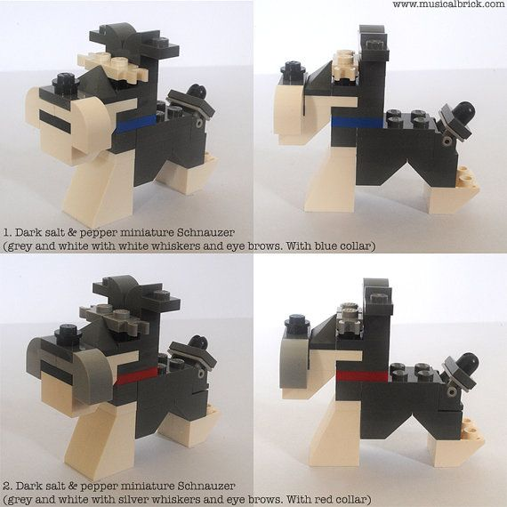 Customisable Lego Miniature Schnauzer