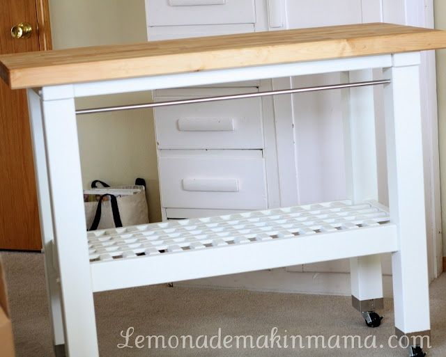 groland kitchen island | Ikea hack - casters on the Groland island ...