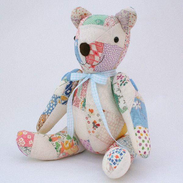 Vintage patchwork Bubs Bear