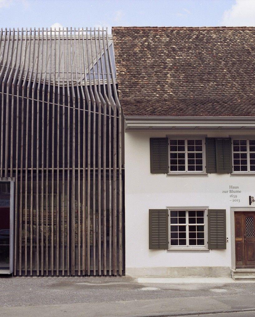 Marazzi Reinhardt Slots Farmhouse Intervention Between Traditional Swiss Buildings House ArchitectureArchitecture