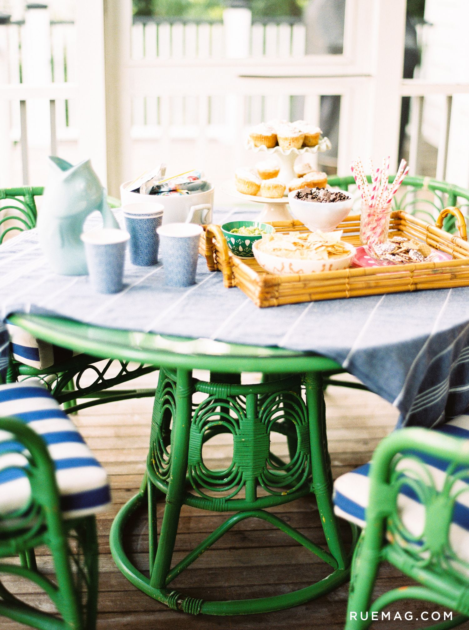 Strange Lovely Updated Rattan Vintage Table The Table And Chairs Ocoug Best Dining Table And Chair Ideas Images Ocougorg