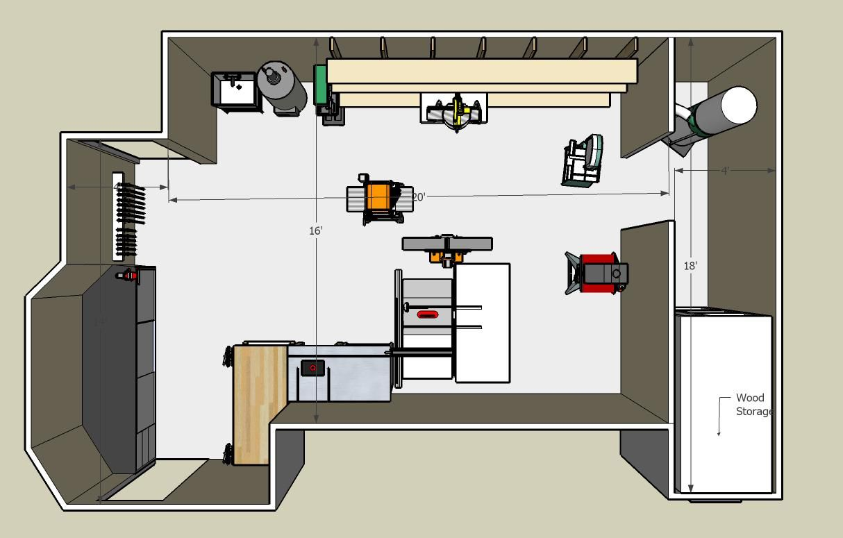 Woodworking Shop Floor Plans View The Photo Gallery Woodworking