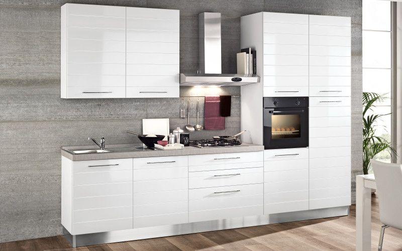 Cucina bloccata bianco, bianco lucido - Gaia | F84F 01 | mobili ...