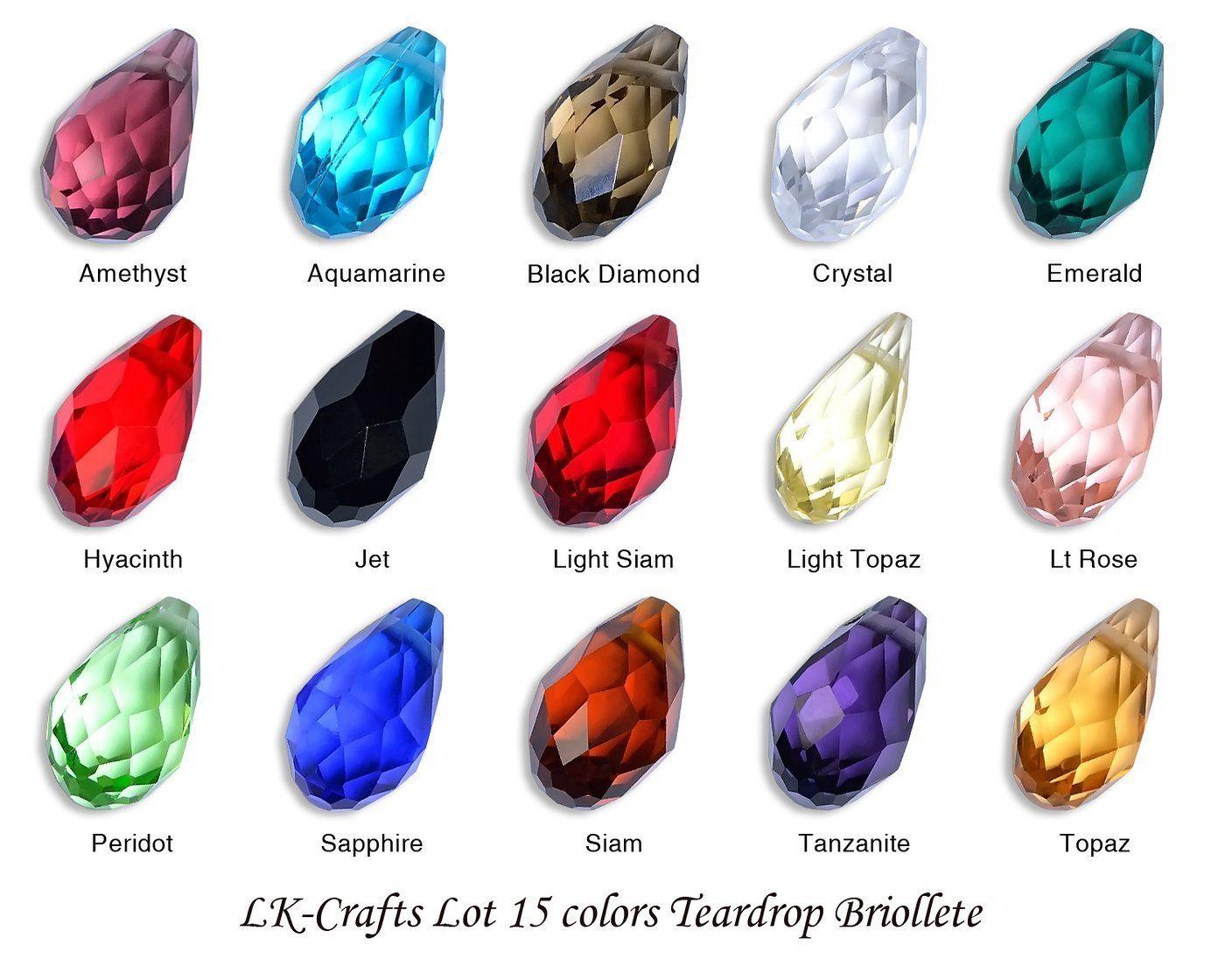 LK-CRAFTS Wholesale Lot 150pcs Teardrop Briollet ( ~ Swarovski cut #6010) 8x13mm…