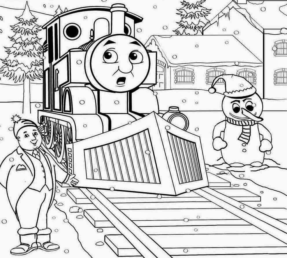 xmas+thomas+the+tank+colouring+page+christmas.jpg (991×892 ...