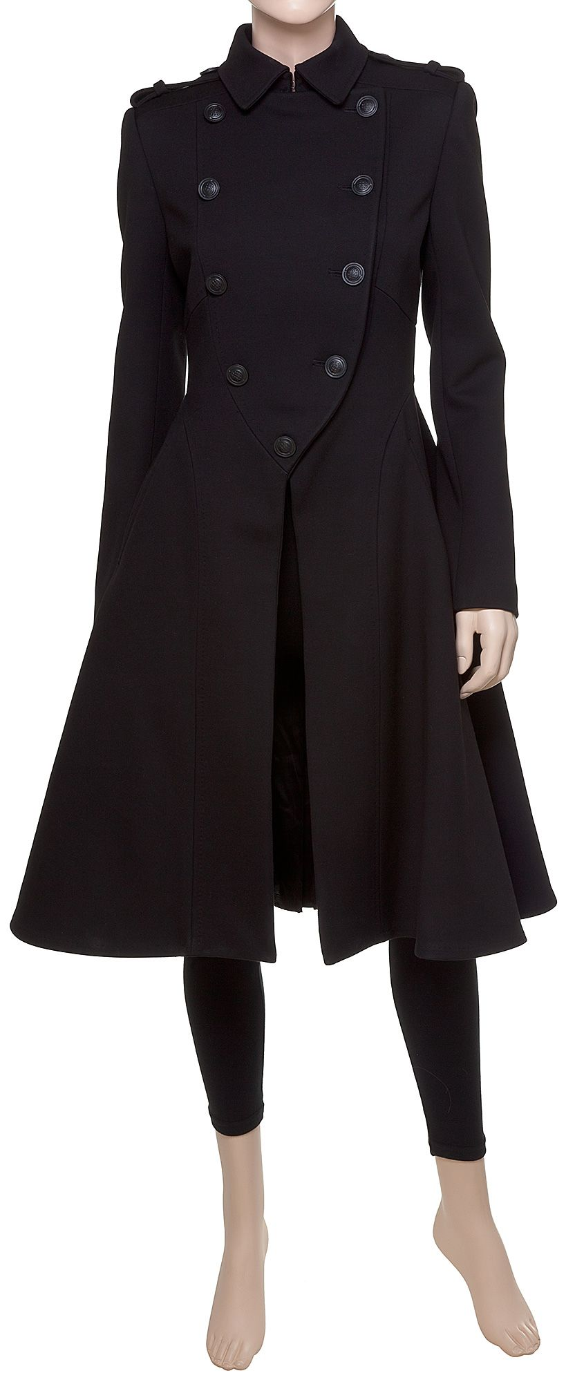 Coat With Front Detail - MAX STUDIO | Goth Style Clothing ...