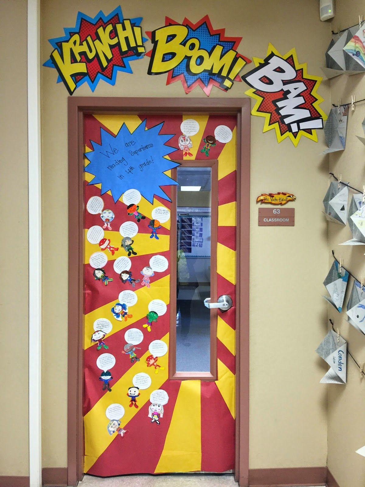 Busy Miss B. Superhero Classroom Doors More & Busy Miss B.: Superhero Classroom Doors \u2026 | Pinteres\u2026