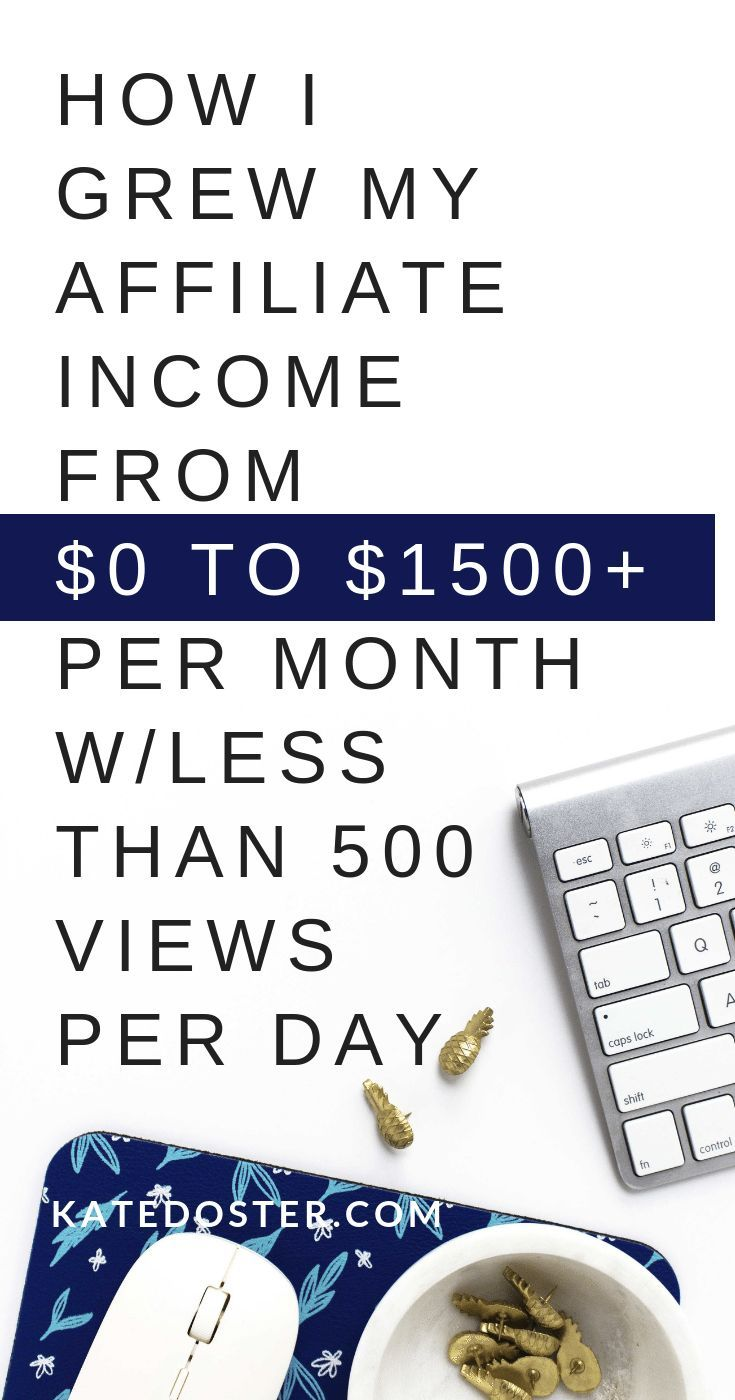 How I Increased My Affiliate Income From $0-$1500+ per month
