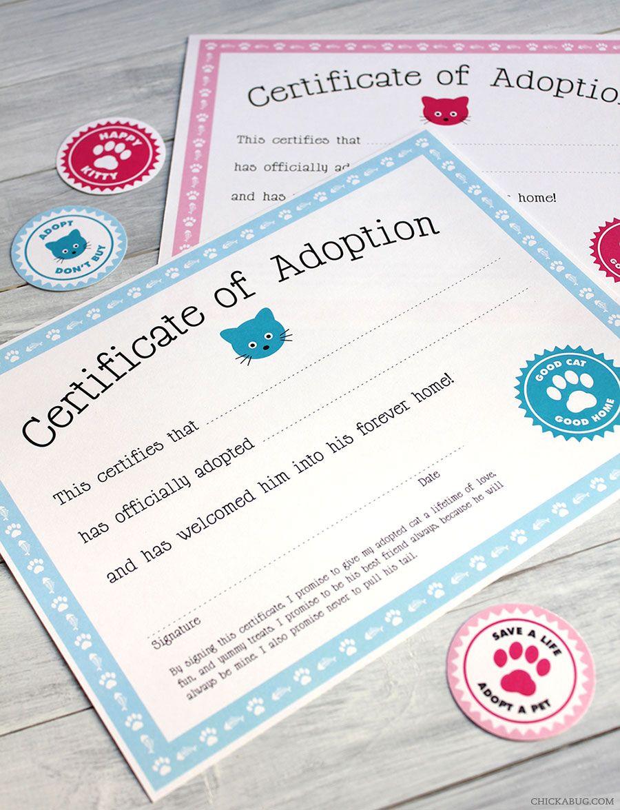 Free Printable Cat Adoption Kit Adoption Free Printable And