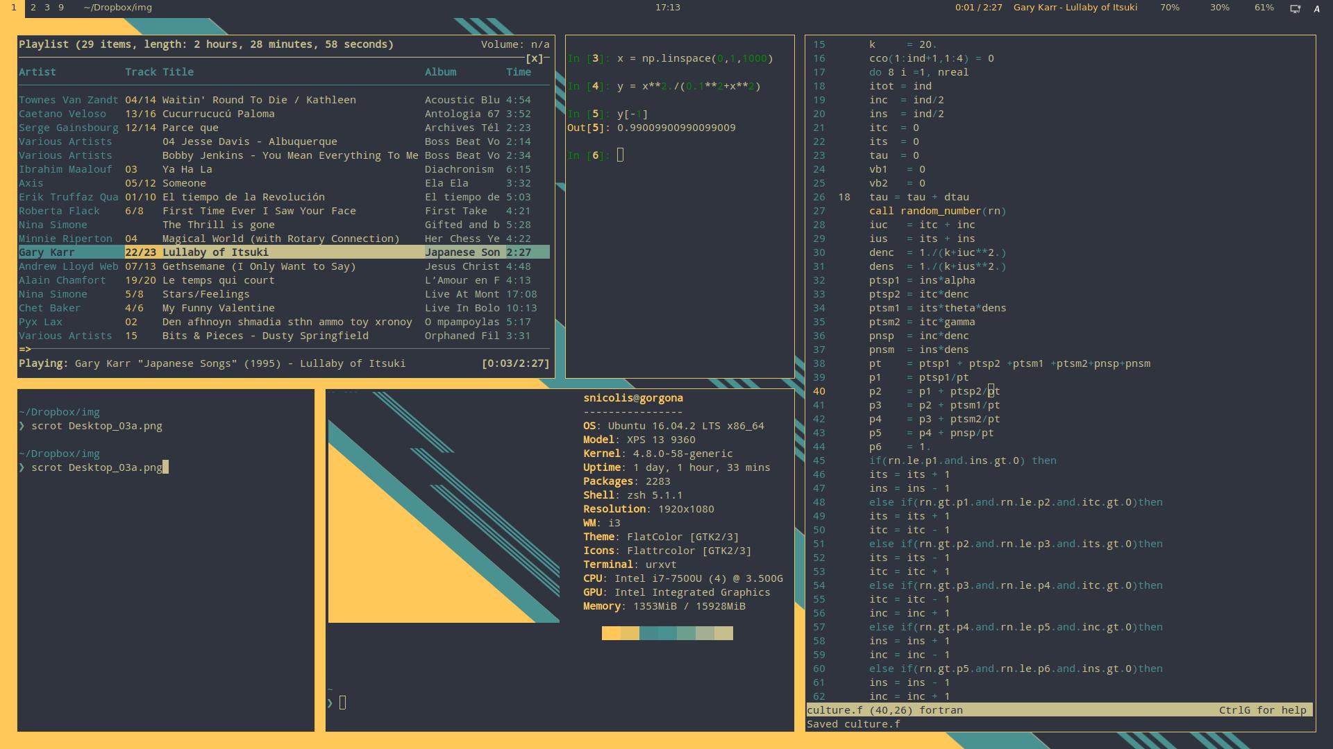 i3-gaps] Desktop_03 in 2019 | Riced Nix | Desktop, Linux
