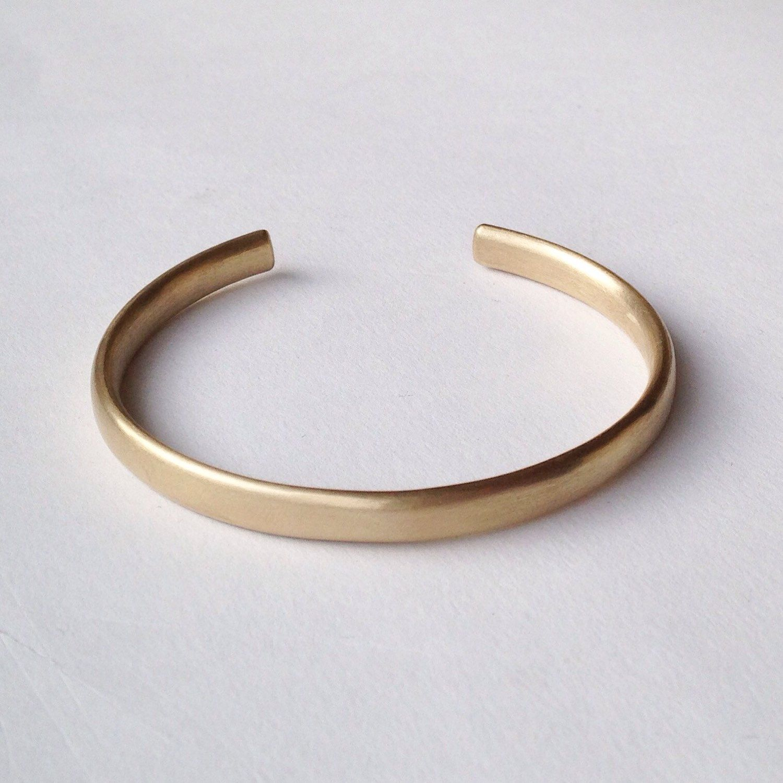 Simple gold cuff bracelet open oval wire cuff open chunky silver