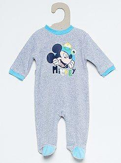 dc72ab126 Pijamas, batas - Pijama de terciopelo de 'Mickey Mouse' - Kiabi ...